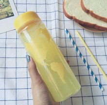 New Fashion My Water Bottle Fruit Juice Sport Portable Travel Botle PC Map Bottles for Water My Bootl 500ml Plastic bottles