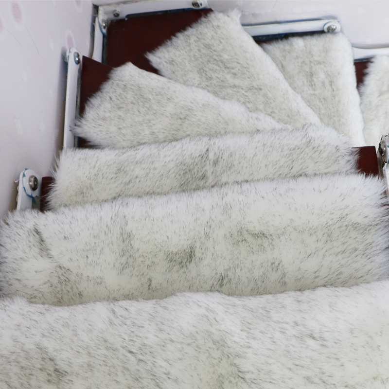 13PCS Faux Wool Rug Stair Treads Mats Rectangle Non-slip Rugs Staircase Pads Stepping Carpet