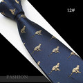2016 Nueva 7 cm Lazos Para Hombre Corbata del Lazo de seda jacquard tejido de Animales Chirstmas Gravata Classic Fashion Business Boda Lazo Para hombres