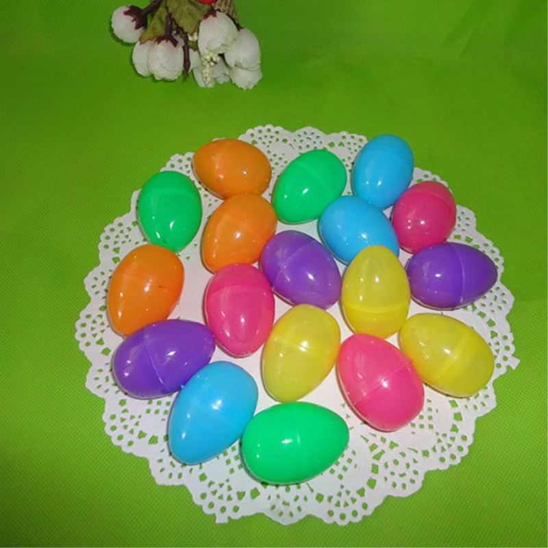 12pcs/set Easter Egg Decoration Home Kids DIY Craft Toys Gifts Mixed Color Empty Chocolate Box Plastic Easter Eggs Fun Toys