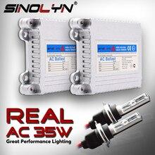 Sinolyn H7 H1 H11 D2H zestaw ksenonów przetwornica konwersji AC żarówki soczewki projektora światła przeciwmgielne akcesoria Tuning 4300K 6000K 8000K