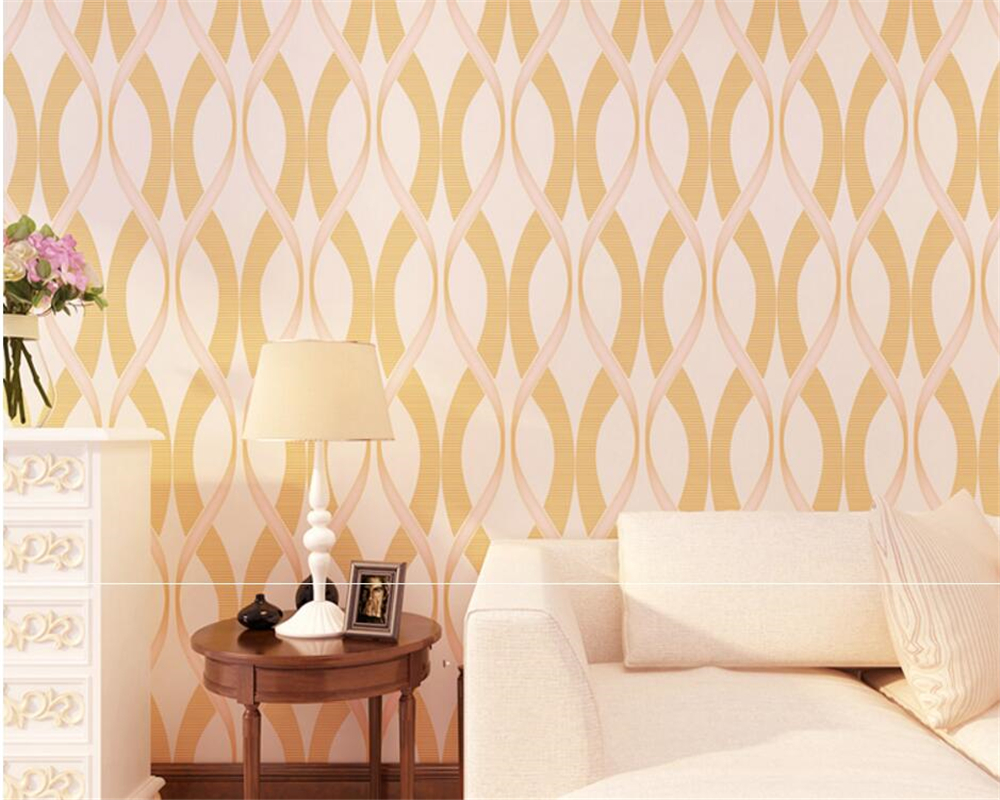 Beibehang wallpaper for walls 3 d curve stripes red blue yellow ...