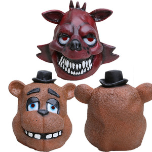 Image 2 - Five Nights At Freddys mask FNAF foxy chica Freddy Fazbear Bear mask for kids halloween party decorations Supplie