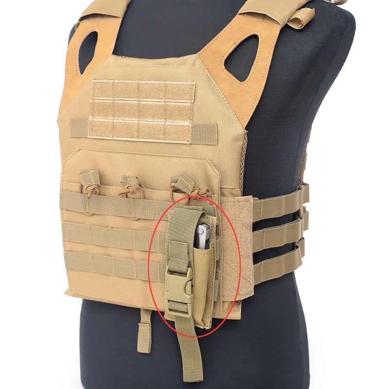 Đèn Pin Túi Chiến Thuật Quân Đội Túi Săn Bắn Súng Trường Túi Đeo Thắt Lưng Dây Túi Súng Trường Airsoft Dao Đàm Đèn Pin Đạn Cam Phối Túi