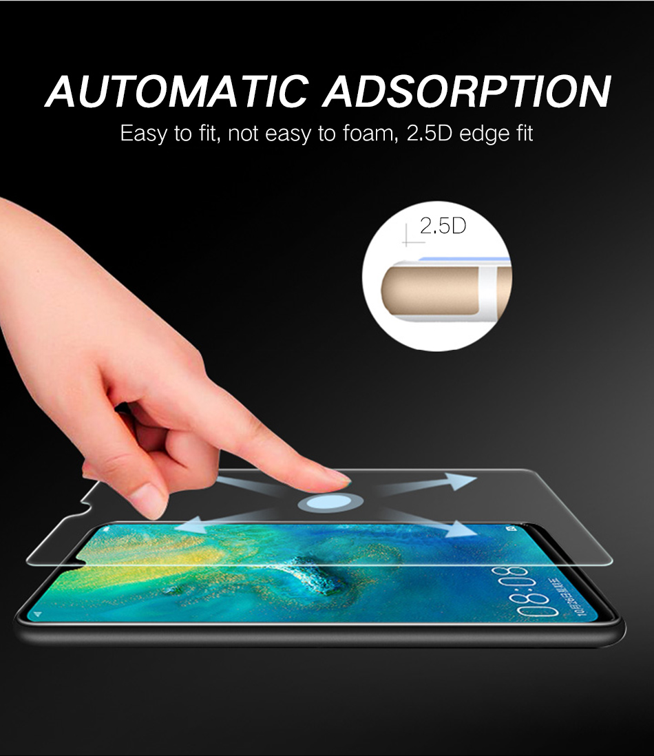 6JiQi mate20 P20 Pro Lite Tempered Glass 2.5D For Huawei P10 Lite P20Pro Full Film Protector For Huawei Honor 10 9 P10 plus Lite