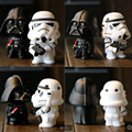 New Star Wars Figuras de juguete 2 UNIDS/SET Negro Knight Darth Vader Stormtrooper PVC Figuras de Acción JUGUETES Educativos BRICOLAJE blanco soldados