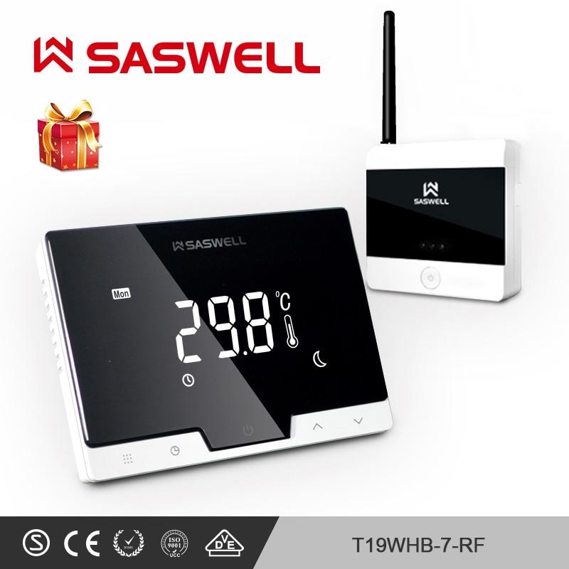 SASWELL Termostato Regolatore di Temperatura per camera Riscaldamento a pavimento Elettrico di Acqua/Caldaia A Gas Termoregolatore settimanale programmabile