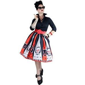 53a4ee777bc 2018 Women Halloween Dress Ladies Costume Skull Bat belt
