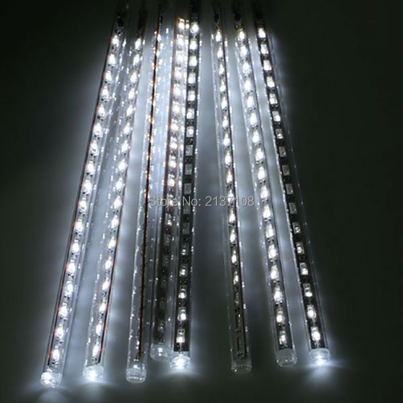 beautiful effect 80cm smd 3528 meteor light show rain tube new year christmas lights outdoor tree light festival decoration in holiday lighting from lights - Meteor Christmas Lights