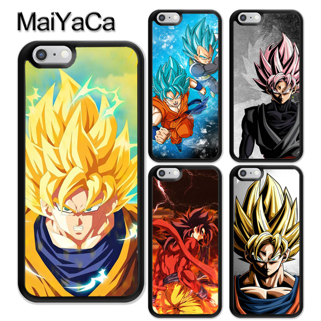 huge discount 18b50 1481e US $4.15 5% OFF|MaiYaCa DBZ DRAGON BALL Z GT GOKU GOHAN ANIME Rubber Back  Cover Fundas For iPhone 6 6S Plus 7 8 X XR XS MAX 5S Mobile phone bag-in ...