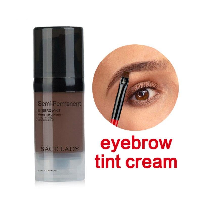 6 Colors Eyebrow Gel Make Up Brown Enhancer With Brow Brush Tools Enhancer Eye Brow Dye Cream Make Up Paint Cosmetic