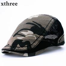Xthree moda kamuflaż Beret Cap kołysać cap kapelusze dla mężczyzn i kobiet osłony przeciwsłoneczne kapelusz Gorras Planas kaszkiety berety tanie tanio Na co dzień Poliester Bawełna Patchwork Unisex Dla dorosłych
