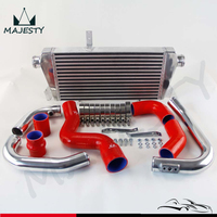 New Front Mount Intercooler Kit for Audi A4 1.8T Turbo B6 Quattro 2002 2006 Blue / Black / Red