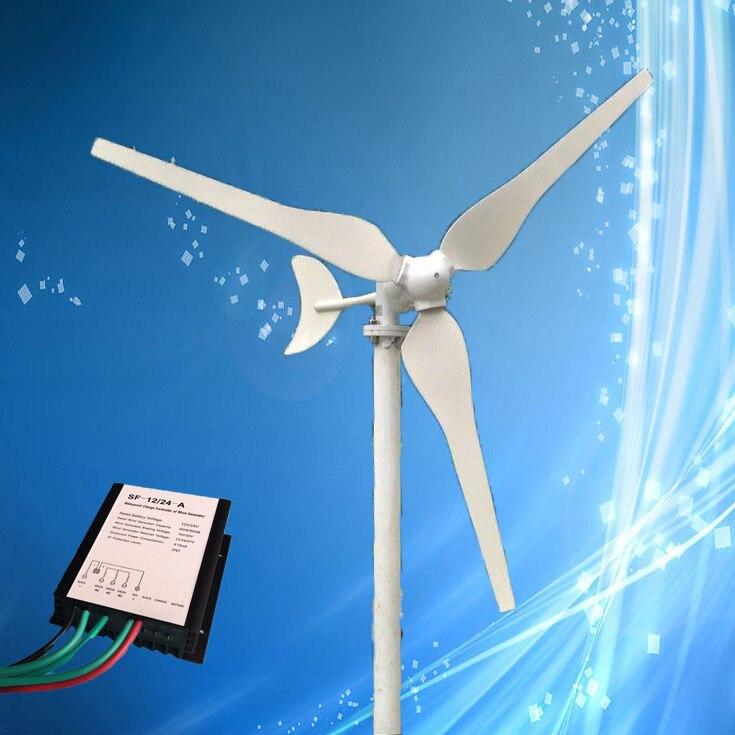 Faible Vitesse Du Vent 50W 12VDC/24VDC 12VAC/24VAC Éolienne Max 65W Éolienne Générateur 3 pièces Lames + Contrôleur de Vent En Option