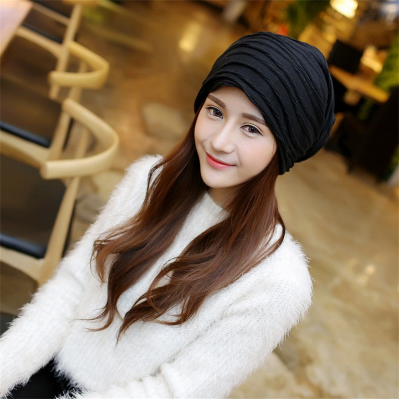 Fashion Casual Fold Women's Caps Bonnet Beanies Knitted Hat Caps Soft Skullies Hat for a Girl Couple Windproof Warm Gorras Cap windproof skullies caps cycle capbeanies dustproof half face mask cap motorcycl gorras gorros balaclava warm hat overwat m034