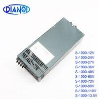 DIANQI power suply output 12V 13.5V 15V 24V 27V 36V 48V 60V 72V 90V 110V 1000w power supply transformer ac to dc power supply