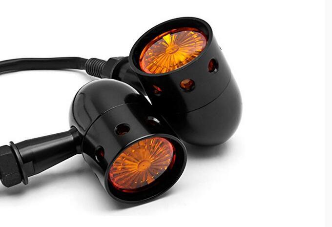 1 par de Motos accesorios de estilo retro de la motocicleta intermitentes luces