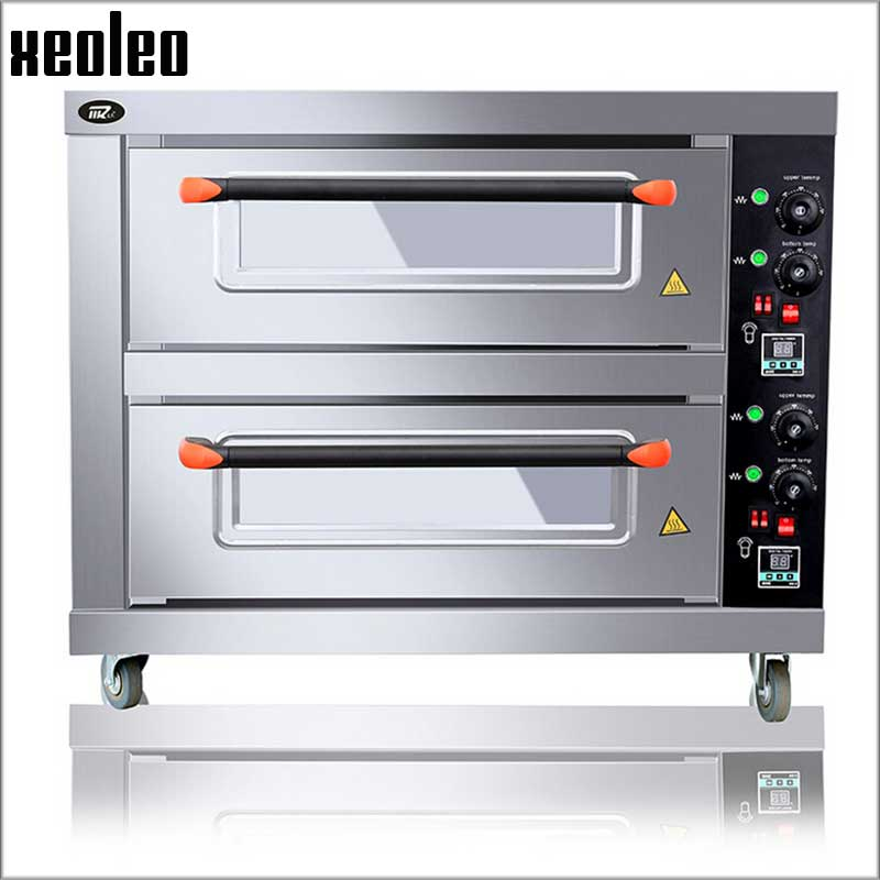 XEOLEO Double Layers Double Pans Electric Oven Commercial Multi-functional Commercial Baking Oven Halogen Oven For Bread/Pizza
