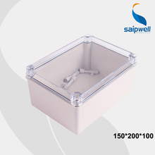 150*200*100mm Size CE Approval Industrial Electrical Waterproof Plastic Box Enclosure with lids Transparent Cover (DS-AT-1520)