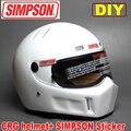 DIY Simpson model CRG ATV helmet + SIMPSON sticker Motorcycle racing Full Face helmet WRC WTCC F1 riding helmet