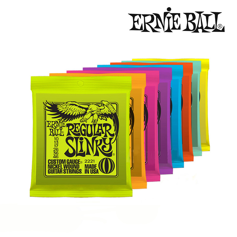 Original Ernie Ball Electric Guitar/ Bass String Nickel steel electric bass guitar strings Free shipping solid brass metal electric guitar nut bass nut for st tele lp guitars 4 string 5 string bass guitar parts 1 piece