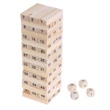Wooden Stacked Model Tower Building Blocks Kids Educational Toys intelligent dev