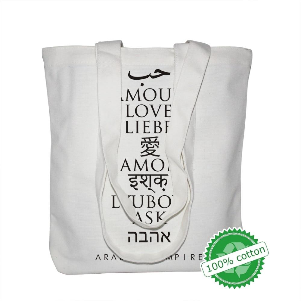 100PCS/Lot Custom Handbags Canvas Tote Bags Reusable Cotton Grocery Shopping Bag Webshop Eco Foldable Shopping Cart Trolley