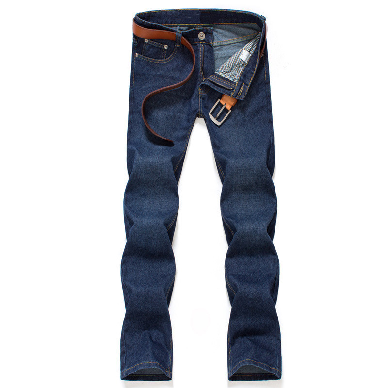 Men s jeans Slim Straight jeans male trousers
