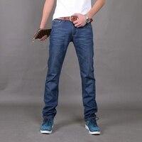 2015 hombres Largos de los pantalones Vaqueros Jeans de Moda de Grandes Ventas de Primavera Verano hombres de La Marca de Moda Delgado Vestido Azul Nuevo Tamaño de Los Pantalones de Los Hombres 28-38