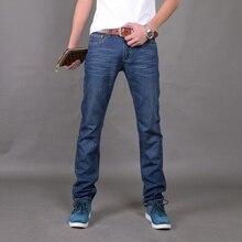 2017 Для мужчин; длинные джинсы Модные джинсы большой продаж модного бренда тонкий новый голубое платье Для мужчин S Мотобрюки Размеры 28-38