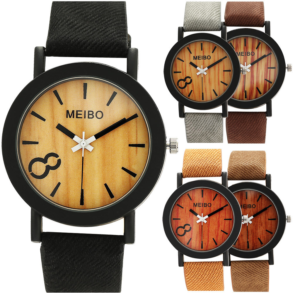 Men Vintage Natural Business Watches Women Casual Wooden Color Leather Strap Watch Lover Wood Male Wristwatch Relogio MasculinoMen Vintage Natural Business Watches Women Casual Wooden Color Leather Strap Watch Lover Wood Male Wristwatch Relogio Masculino