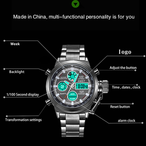 Image 3 - AMST Famous Luxury Brand Mens Watches Digital LED Military Watch Men Fashion Casual sports Electronics Man Wrist watches Relojes