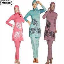 Islamic swimsuit muslim swimwear high waist hooded full coverage for women costumi da bagno trajes de bano maillot de bain lady