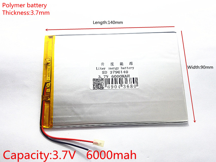 9inch 10inch large capacity 3.7 V tablet battery 6000 mah each brand tablet universal rechargeable lithium batteries 3790140 3 line 3 7 v 3075135 lithium polymer battery 4500 mah and 9 inches tablet batteries large volume thin 3075135