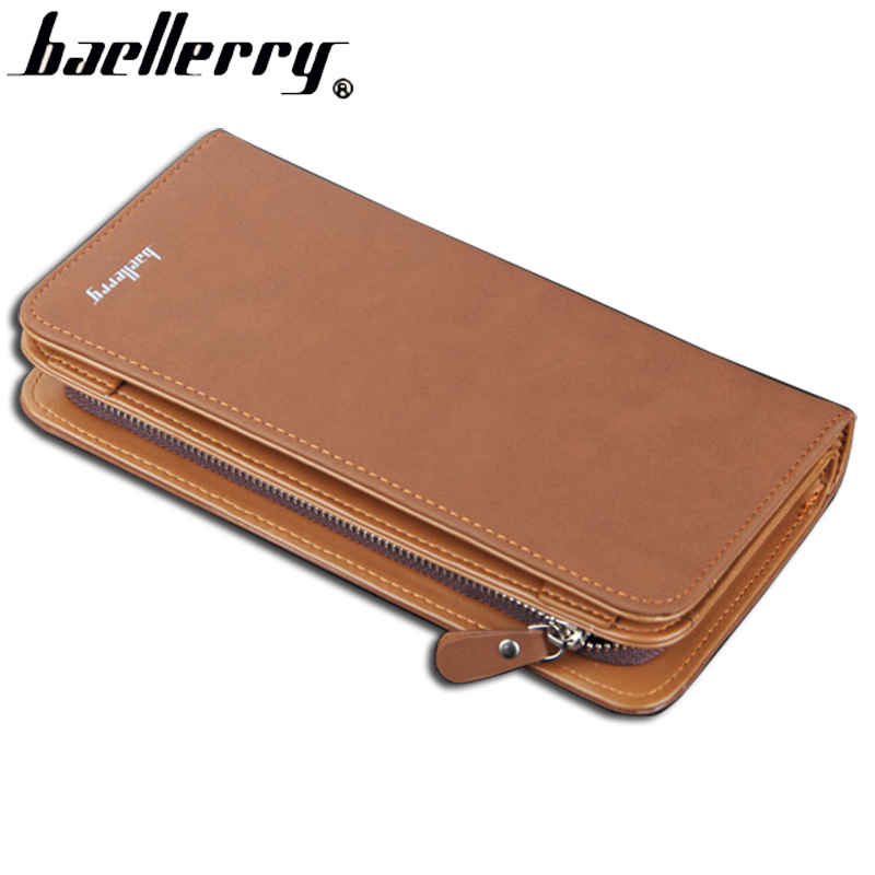Baellerry Top Quality Men Wallets Zipper Long Leather Wallet Male Clutch Bag Simple Style Leather Large Capacity Purse Wallet baellerry brand wallet men leather men wallets purse short male clutch leather wallet mens money bag quality guarantee