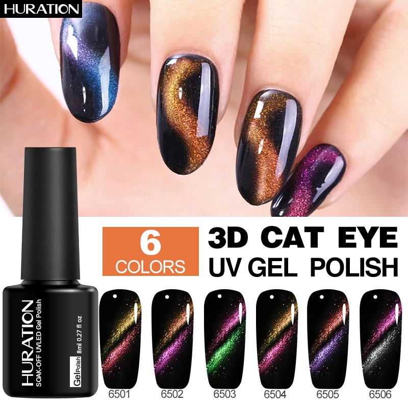 Hot Sale Huration Cat Eyes Magnet Nail Gel Polish Temperature ...