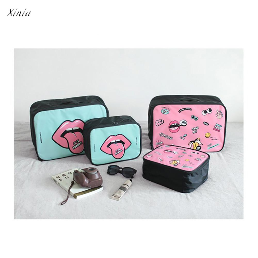 Aspiring Xiniu 2018 New Woman Travel Bag Cartoon Portable Travel Storage Boarding Bag Large Storage Bag Travel Cubes Handbags Women Luggage & Bags