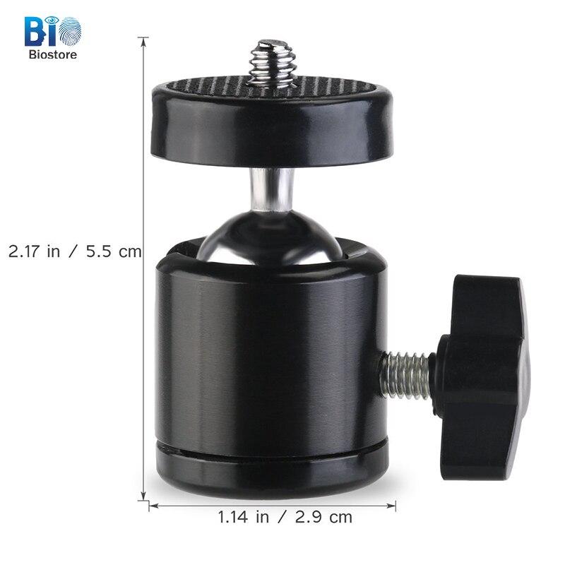 Hell Biostore Mini Runde Kamera Kopf 1/4-3/8 Universal Schraube 360 Drehen Kamera Umwandlung Kopf Heimelektronik Zubehör Unterhaltungselektronik