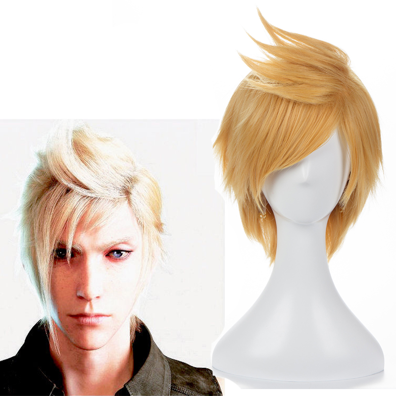 Hot Gmae Final Fantasy XV Cosplay Prompto Argentum Cosplay Yellow Heat Resistant Synthetic Anime Cosplay Wig Halloween Carnival