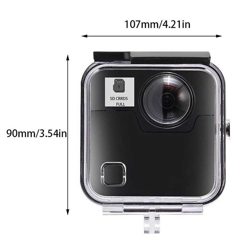 Underwater 45M Waterproof Case Housing Diving Protective Shell Cover For  -Gopro Fusion 360 Water Sports Action Camera #8