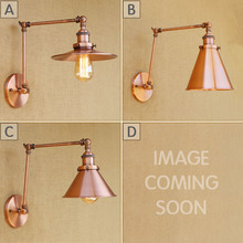 Rh brazo rojo bronce industria Retro personalidad Vintage retráctil dormitorio pasillo plegable gratuito bombilla Led de pared lámparas de luz