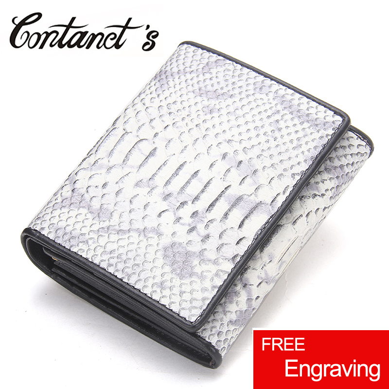 New Women Wallets Genuine Leather High Quality Short Design Clutch Serpentine Wallet Coin Porket Purse Cowhide Female Wallet 2018 new women wallets oil wax genuine leather high quality long design day clutch cowhide wallet fashion female card coin purse page 5