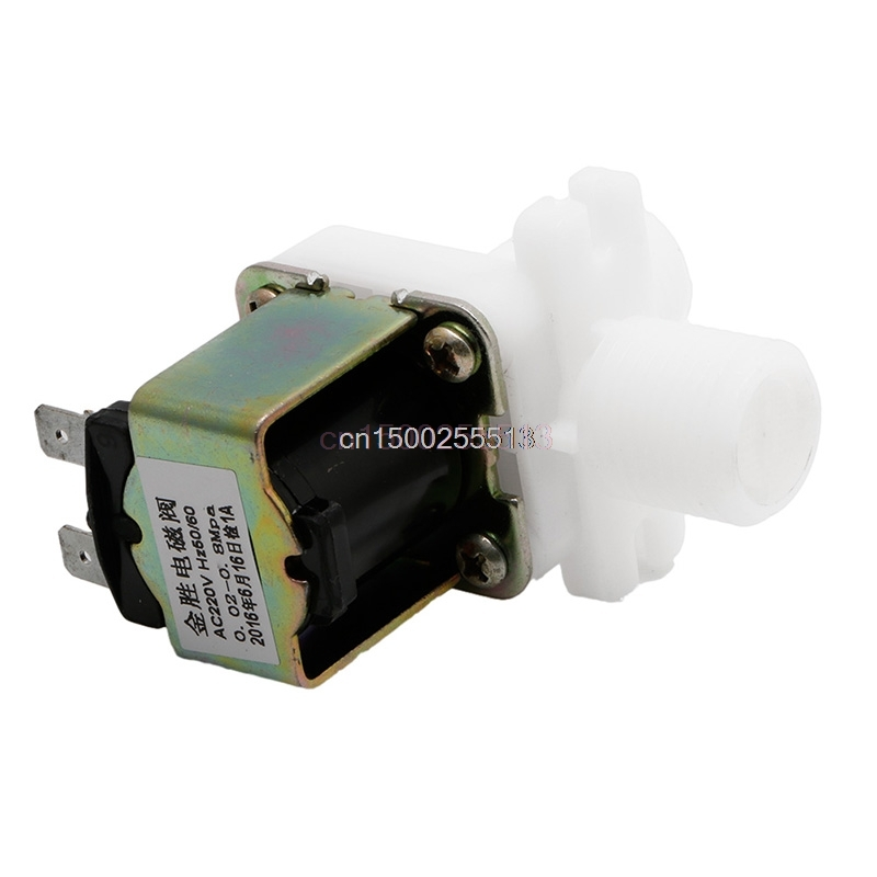 Water Valve 220V AC Electric Solenoid Valve Magnetic N/C Water Air Inlet Flow Switch 1/2