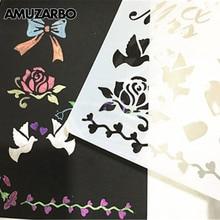 Card-Ruler Office-Supplies School Scale Template Craft-Paving Decorative-Paper Scrapbook