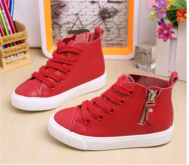 2017 new children s shoes microfiber leather boys and girls sports shoes breathable waterproof casual shoes