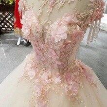 CloverBridal список лучших продавцов alibaba розничный магазин невесты платье принцессы длиной в Пол, розовое платье с кристаллами и кисточками на плечах