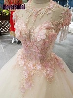 CloverBridal best seller list alibaba retail store bride dress princess floor length pink leaves crystal tassels shoulders