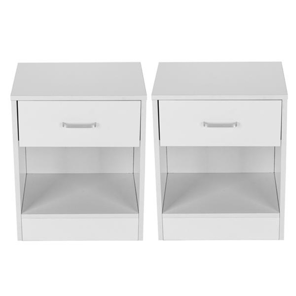 2 Colors 2pcs Night Stands With Drawer White For Bedroom Storage Night Stand With Drawer