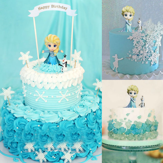 Princess Elsa Belle Ariel Tinker Bell Model Toy Figure Pretty Doll Cake Topper