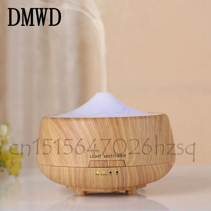DMWD 250ml Aromatherapy Ultrasonic Essential Oil Diffuser Humidifier with 7 Color Lights and Waterless Auto Shut-off- Wood Grain hot sale humidifier aromatherapy essential oil 100 240v 100ml water capacity 20 30 square meters ultrasonic 12w 13 13 9 5cm